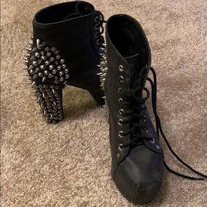 Authentic Jeffrey Campbell Lita Bootie with Spikes